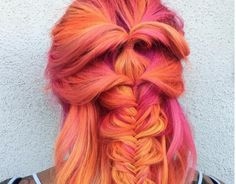 We are in love with this bright and fiery phoenix hair trend