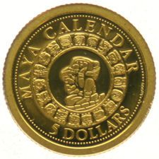 Solomon Islands - 5 Dollars 2012 'Maya Calendar' - gold