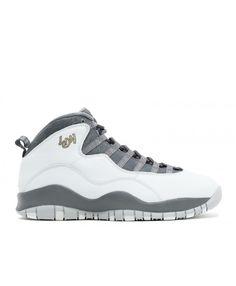 34969e4409d7 Air Jordan Retro 10 London Pr Pltnm Mtllc Gld Drk Gry Cl 310805 004