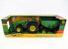 John Deere 8 Inch Tractor with Gravity Wagon