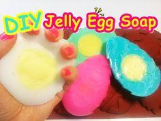 DIY Boiled EGGS Jelly Soap 삶은 계란 모양 젤리 비누 만들기 놀이 장난감