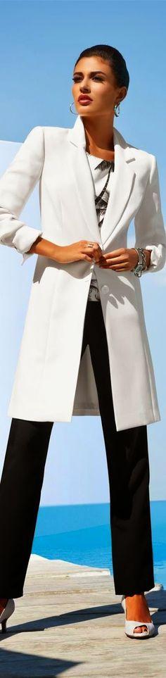 Madeleine Coat in Wool White