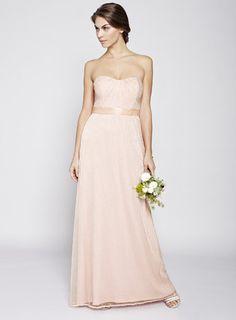 Blush Juliet Long Bridesmaid Dress