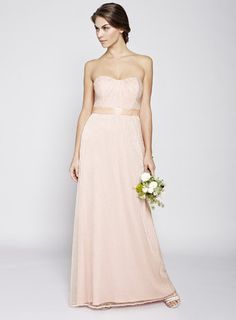 Blush Juliet Long Bridesmaid Dress