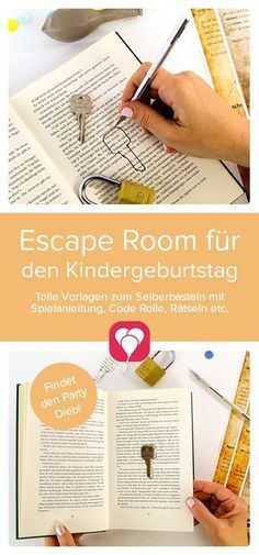 """Escape room game at your home! You want an escape room # Children's birthday and exciting with the kids do? It's easy with the template """"The Party Thief"""". Just have a look at our website and let yourself be drawn to the exciting Escape Room Room Escape Games, Escape Room For Kids, Kids Room, Escape Room Diy, Games For Kids, Diy For Kids, Breakfast Party, Puzzles, Anniversaire Harry Potter"""