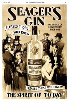 1935 Seager's Gin advert