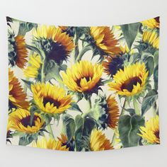 Sunflowers Forever Wall Tapestry by Micklyn - $39.00