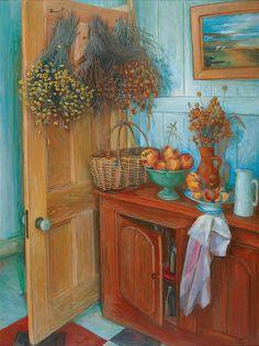 Margaret Olley - interior oil on board