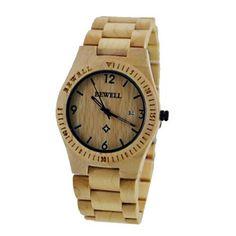 Mooi houten horloge! Model Liverpool.