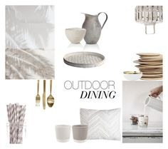 """""""Outdoor Dining"""" by nmkratz ❤ liked on Polyvore featuring interior, interiors, interior design, home, home decor, interior decorating, C & F, canvas, French Connection and House Doctor"""