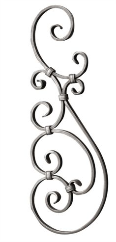 """[BB] Forged Steel Scroll Panel 24-1/4""""H x 9-1/16""""W Wrought Iron Gate Designs, Wrought Iron Decor, Wrought Iron Gates, Iron Trellis, Barbed Wire Art, Grill Door Design, Motif Vintage, Iron Balusters, Iron Plant"""
