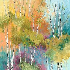 "watercolor trees  ""Spring"" by artist: Kate Moynihan  Item #: 1123176  http://www.artthatfits.com/art/EnlargePage.aspx?ImageId=434538"