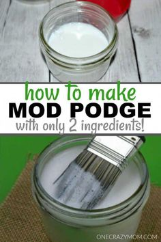 You have to try this easy homemade mod podge recipe. You can save lots of money. You have to try this easy homemade mod podge recipe. You can save lots of money as this recipe onl Diy Mod Podge, Mod Podge Crafts, How To Mod Podge, Mod Podge Ideas, Modge Podge Projects, Easy Diy Crafts, Diy Crafts To Sell, Fun Crafts, Simple Crafts
