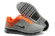 Nike Air Max 2013 Chisel KPU Men's shoes Grey/Orange