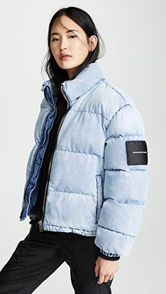 1e35b445ed0 Winter Puffer Jacket Blue denim Alexander Wang quilted down coat. Winter  Puffer Jackets