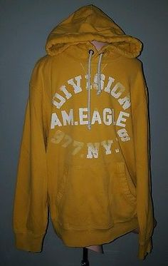 American Eagle men's hoodie L large yellow pullover