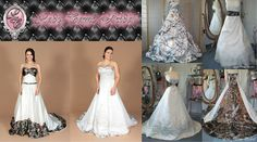 Spend one of your most special and memorable days wearing what you love - CAMO! Here's a list of places to buy awesome camo wedding dresses! Camo Wedding Dresses, Country Wedding Dresses, Wedding Country, Country Weddings, Architecture Design, Wedding Ideas To Make, Camouflage Wedding, Shotgun Wedding, Cowgirl Wedding