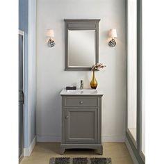 Water Creation Madison Pure White Inch Single Sink Bathroom - 24 inch gray bathroom vanity