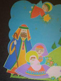 Sagrada Familia en tarjeta navideña