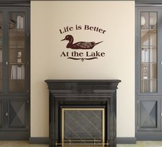 Wall Decal Life is Better at the Lake | Duck Vinyl Wall Decal | Lake House Decor | Vinyl Lettering 22311