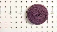 Yarn Storage Peg Board by The Dapper Toad