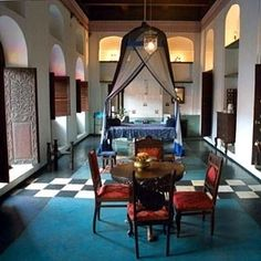 The ballroom guest room at 236 Hurumzi (formerly Emerson & Green) in Stone Town, Zanzibar. I would very much like to sleep here someday.