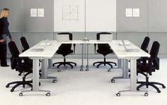Mobile Multi-purpose Tables from www.groupefocus.com/ Startup Office, Innovation Centre, Conference Table, Office Interiors, Office Decor, Tables, Furniture, Design, Training
