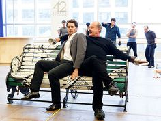 Star Tracks: Friday, February 27, 2015 | BROADWAY BOUND | Matthew Morrison and Kelsey Grammer show off their goofy sides at a press preview for their new Broadway show, Finding Neverland, in N.Y.C. on Thursday.