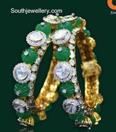 Polki Emerald Bangles photo