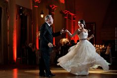 Father and daughter dance at Biltmore Hotel in Miami / Photo by Maloman Studios