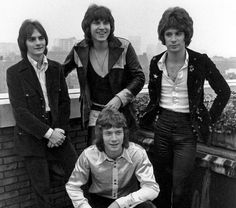 """The """"classic"""" Raspberries line-up. Clockwise from top left: Jim Bonfanti, Wally Bryson, Eric Carmen, Dave Smalley"""