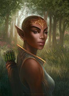 f High Elf Druid Med Armor Longbow Sword Deciduous forest Path portrait lg Elf Characters, Fantasy Characters, High Fantasy, Fantasy Art, Character Portraits, Character Art, Weiblicher Elf, Elf Drawings, Dnd Elves