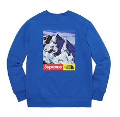 New Supreme The North Face Mountain Crewneck Sweatshirt Blue/Capuche Bleue Size M. Mens Sweatshirts from top store Mens Sweatshirts, Hoodies, Crew Neck Sweatshirt, Graphic Sweatshirt, Sneakers N Stuff, Sneaker Magazine, Blue Hoodie, Supreme Box Logo Hoodie, Mode Vintage
