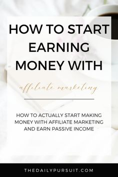 Make money blogging with affiliate marketing. Start earning passive income from your blog. thedailypursuit.com [affiliate]