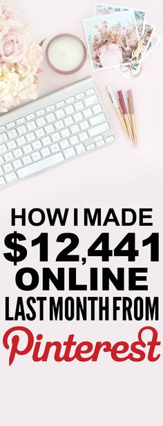 How she made $12,441 online last month is SO COOL! I'm so glad I found these AMAZING tips! Now I have a great way to make money online and work from home! I never thought about how to blog before. Definitely pinning!