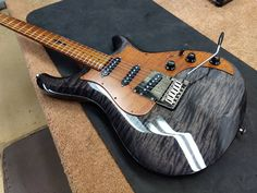 Knaggs Guitars Larry Mitchell Severn in Onyx with toned Maple pick guard and neck #vintageguitars