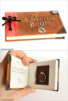 Up-inspired engagement ring box. #pixar #disney
