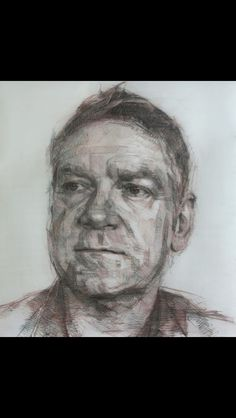 By Colin Davidson Sir Kenneth Branagh (drawing) 2013 Graphite,crayon and pastel on paper.  122x112 cm