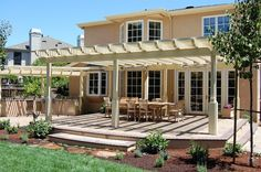 New arbor and landscaping located in Menlo Park