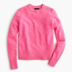 J Crew pink Holly sweater - NWT Such a great pink shade! Selling as it was final sale & it's too tight.  Lambswool. I love this shade of pink with grey or navy! J. Crew Sweaters Crew & Scoop Necks
