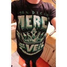 pierce the veil shirt | Tumblr via Polyvore so much beautiful band merch not enough money :,(