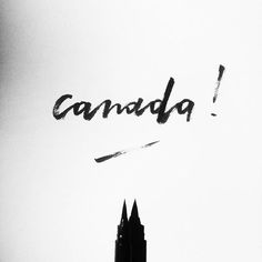 See you next week #Canada !    #lettering #handlettering #design #graphicdesign #diseño #diseñográfico #blackandwhite #travel #wanderlust #studiosananikone