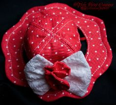 Designer+Dog+Hat+Red+and+White+Polka+Dot+by+ElegantChienCouture,+$35.00