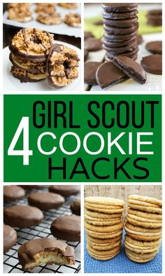 4 Girl Scout Cookie Hacks - #CookieTime #recipe #copycat
