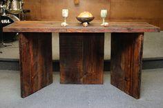 Bridgeway Church - Communion Table Canadian Salvaged Timber