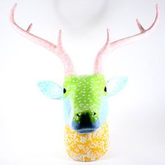 Rice Paper Mache Deer Head | Iko Iko, the most exciting shop for gifts, homewares, accessories and more.