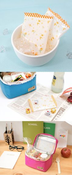 The weather's warming and it's becoming harder to keep cold foods cool in the sun. That's where this absolutely adorable Travelus Resusable Ice Pack Set comes in! Ice packs covered in cute illustrations that will keep your food cold and looking good? Perfect! ^.~*
