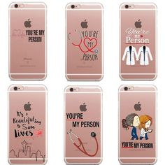 You're My Person Quote Personalised Grey's Anatomy Thin silicone TPU Phone Case For iphone 5 SE 6