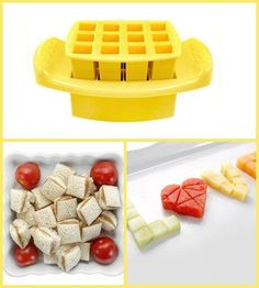 Funbites Food Cutters - Squares - Yellow - Baby's First Gifts - 10