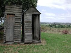 Old-fashioned outhouse, found in rural Victoria, Australia.